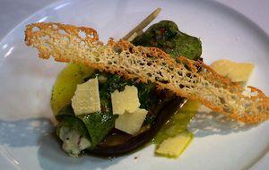 Canelone de espinafre e queijo de cabra