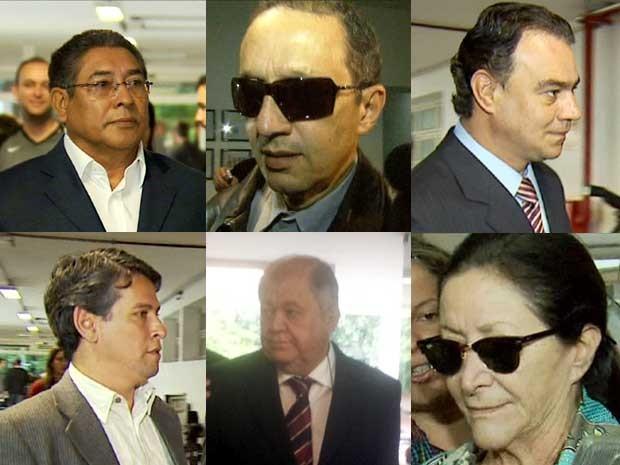 Réus acompanham primeiro dia de julgamento do caso Sanasa (Foto: Reprodução / EPTV)