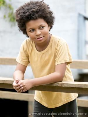 JP Rufino garante que manda bem na escola  (Foto: Felipe Monteiro/ TV Globo)