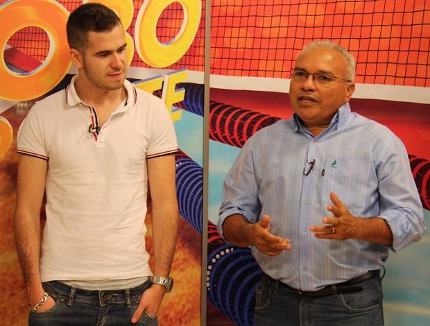 Eloi Dias - Meia portugues do Flamengo-PI (Foto: Josiel Martins/GLOBOESPORTE.COM)