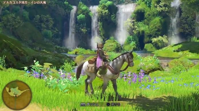 Dragon Quest 11 promete gráficos belíssimos no Nintendo Switch e uma versão nostálgica no Nintendo 3DS (Foto: Reprodução/YouTube)