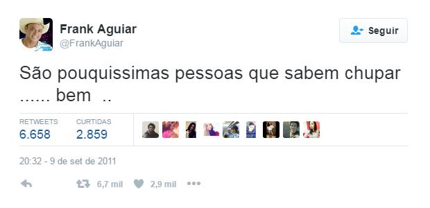 Frank Aguiar post no Twitter (Foto: Reprodução / Twitter)