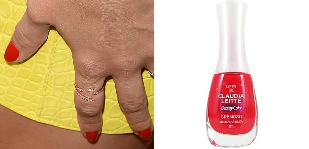 Vermelho vivo, cor Beijar na Boca, Claudia Leitte para Beauty Color (Foto: Getty Images e Divulgação)