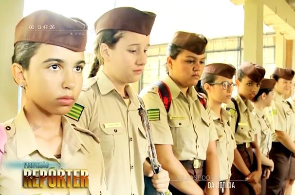 Militarização dos colégios é o tema de reportagem. (Foto: Rede Globo/Profissão Repórter)