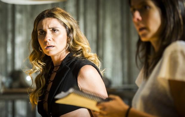 Giovanna Antonelli é dirigida por Joana Jabace na novela A Regra do Jogo (Foto: Globo/João Miguel Júnior)