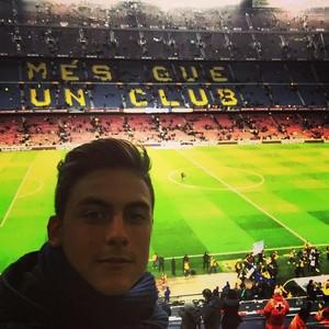 Paulo Dybala no clássico Barça x Real Madrid (Foto: Instagram)