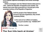 Tabloide britânico responde a Cristina Kirchner sobre questão das Malvinas