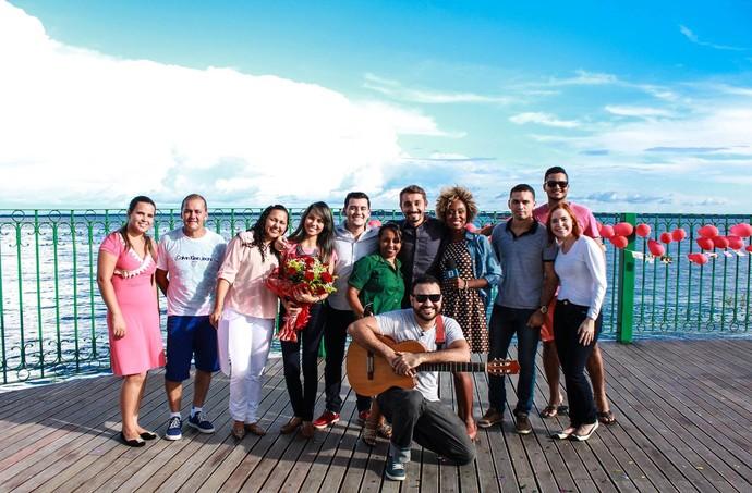 Pedido de casamento foi feito no Parque Rio Negro, em Manaus (Foto: Michell Melo)