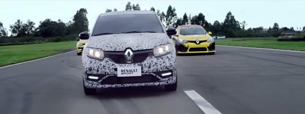 Renault revela novo teaser do Sandero RS (Foto: Reprodução / Youtube)