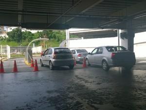 Estacionamento no Shopping Bela Vista, em Salvador. (Foto: Maiana Belo/G1 Bahia)