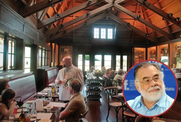 Desde 2010 o diretor Francis Ford Coppola é dono do Rustic, em seu vinhedo na Califórnia. Especializado em comida italiana (Foto: Getty Images / Divulgação)