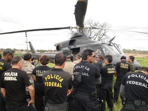 Operação 4 elementos da Polícia Federal é realizada com um efetivo de 40  policiais e bombeiros. (Foto: Divulgação/ Polícia Federal )