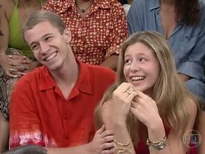 Tiago Leifert e a irmã Marcela (Foto: TV Globo)