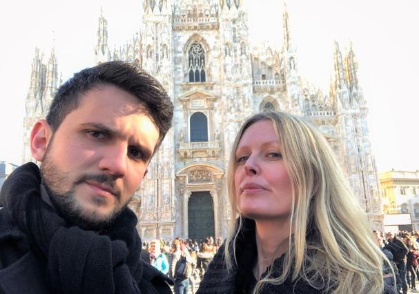 Dani e Vini em Milão (Foto: Divulgação)