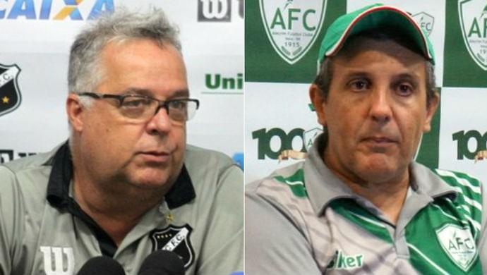 Montagem Josué Teixeira e Anthoni Santoro (Foto: Divulgação/ABC / Augusto Gomes/GloboEsporte.com)