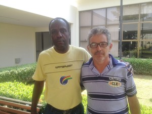 Manoel de Assis(à esquerda) irá comandar o São José nesta segundona (Foto: Marcos Martins/GloboEsporte.com)
