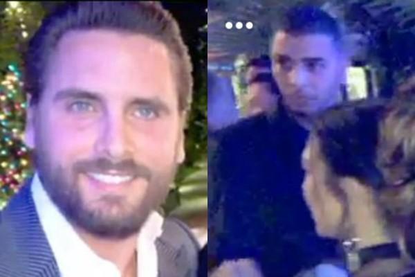 Scot Disick e Younes Bendjima em imagens publicadas por Kim Kardashian (Foto: Reprodução Snapchat)
