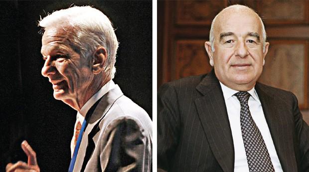 Jorge Paulo Lemann (à esq.) e José Safra (o nome é Joseph, mas quem o conhece o chama de José) (Foto: Agência Estado)