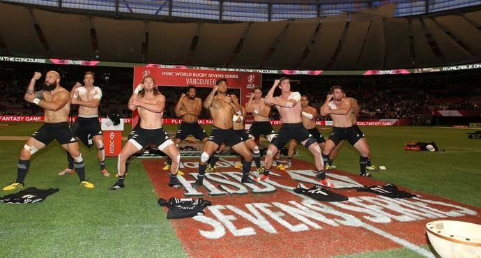 Haka Nova Zelândia, etapa de Vancouver da Série Mundial (Foto: Martin Seras Lima / world rugby)
