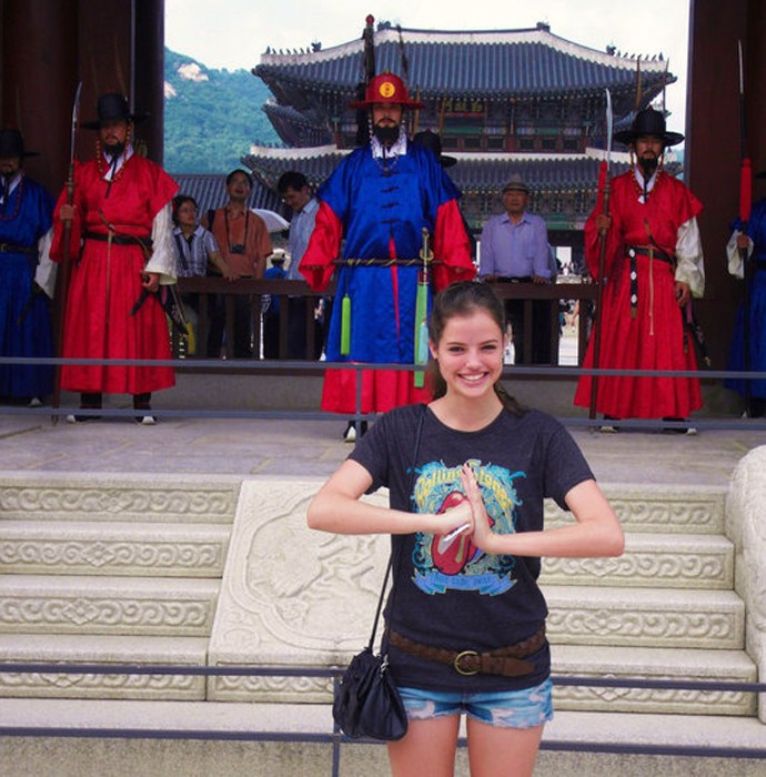 Agatha Moreira Coreia do Sul (Foto: Arquivo pessoal)