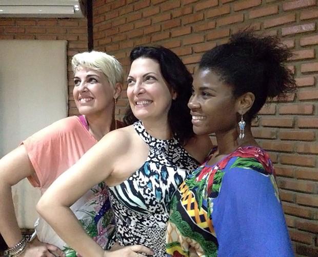 As panteras! Mirna Rubim, Naíma e Ester Freitas capricham nas poses para o Gshow (Foto: Arquivo Pessoal)