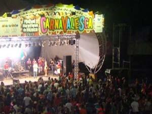Palco do Festival de Música Carnavalesca, no Ceprama (Foto: Gustavi Arruda/Imirante)
