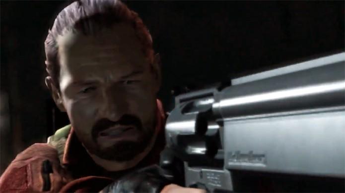 Clássico personagem Barry Burton está de volta em Resident Evil Revelations 2 (Foto: Reprodução: YouTube)