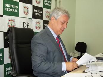 Delegado João Carlos Lóssio, responsável pela prisão da 'rainha do crime de Formosa' (Foto: Rafaela Céo/G1)