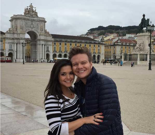 Michel e Thais curtindo Portugal (Foto: Reprodução - Instagram)
