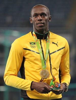 Usain Bolt medalha de ouro 100m Rio 2016 (Foto: REUTERS/Sergio Moraes)