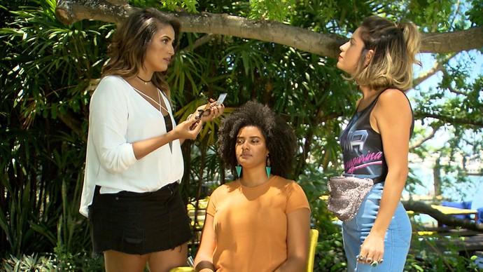 Maquiadora Nathali Pinheiro ensina truques fáceis de maquiagem (Foto: TV Bahia)