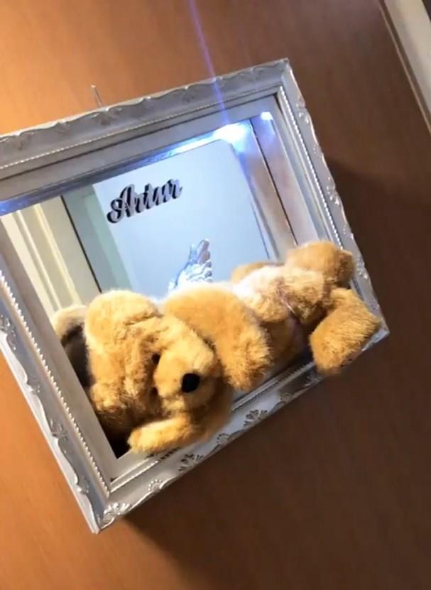 Decoração da porta do quarto de Kelly Key na maternidade (Foto: Reprodução/Instagram)