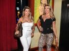 Mirella Santos e irmãs Minerato vão a feijoada em São Paulo