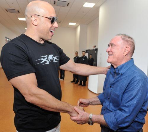Vin Diesel e Renato Aragão, em São Paulo