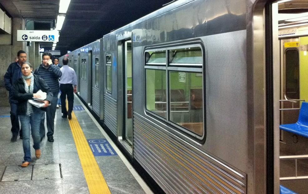 Linha 1 - Azul do Metrô foi a que mais registrou falhas, segundo levantamento do SP2 (Foto: Juliana Cardilli/G1)