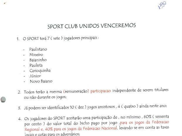"""Documento traz """"normas' para torneio de futebol  (Foto: Reprodução )"""