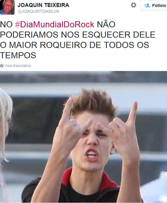 Dia Mundial do Rock - Justin Bieber
