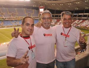 Jorge Rodrigues, Lysias Itapicurú e Maurício Rodrigues eleição flamengo (Foto: Vicente Seda / GLOBOESPORTE.COM)