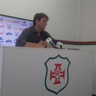 Ricardo Costa, técnico da Portuguesa Santista (Foto: Lucas Musetti)