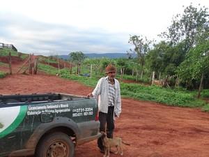 O produtor rural de Araçuaí, José Dionitas, se antecipou, pediu ajuda e já fez o seu CAR. (Foto: Arquivo Pessoal)