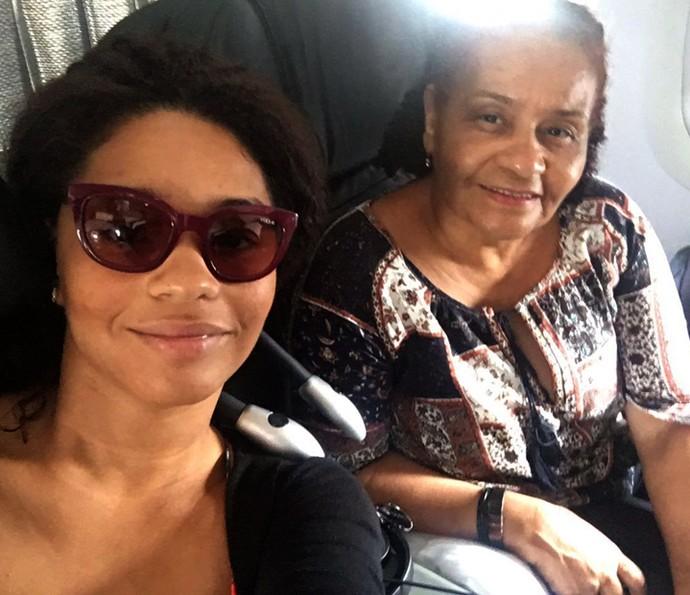 Juliana Alves viajou com a mãe, Fátima, para Curaçao (Foto: Arquivo pessoal)