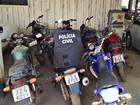 Polícia recupera motos furtadas de unidade do Detran e dois são presos