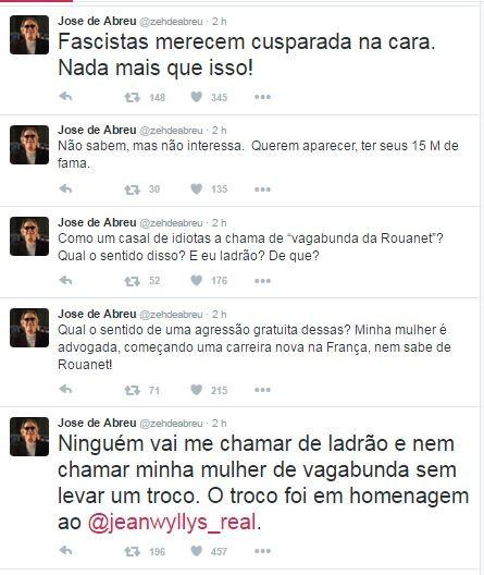 José de Abreu desabafa no Twitter (Foto: Reprodução/Twitter)