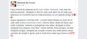 Marisete de Faveri, mãe de Andressa Urach [2] (Foto: Facebook/Reprodução)