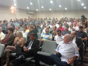 Solenidade contou com autoridades militares e da sociedade civil. (Foto: Diego Souza/G1)