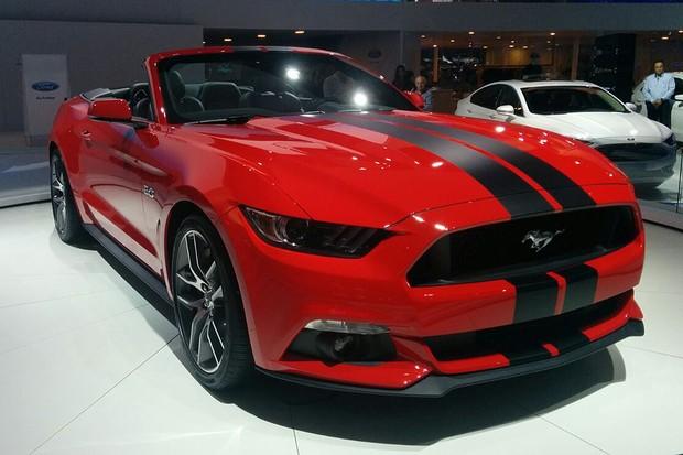 Ford Mustang no Salão do Automóvel 2016 (Foto:  Autoesporte)