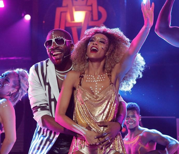 Brau e Michele cantam juntos em show (Foto: Pedro Carrilho/Gshow)