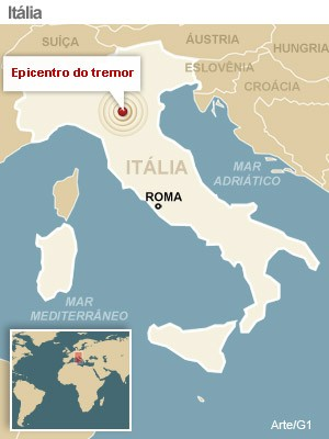 tremor; italia; modena (Foto: G1)