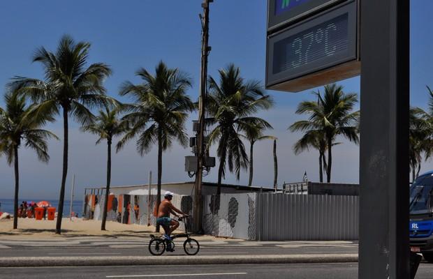 5df7e6baca2 Relógio registra 37ºC na praia do Leme