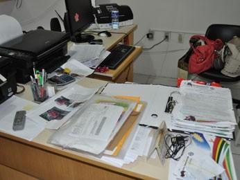 Materiais de empresa em Vitória foram apreendidos (Foto: Divulgação/Polícia Federal)